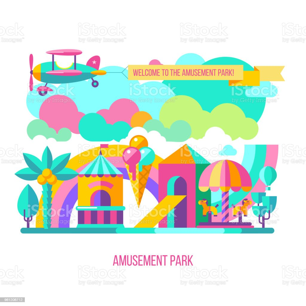 hight resolution of vector clipart royalty free amusement park vector clipart stock vector art