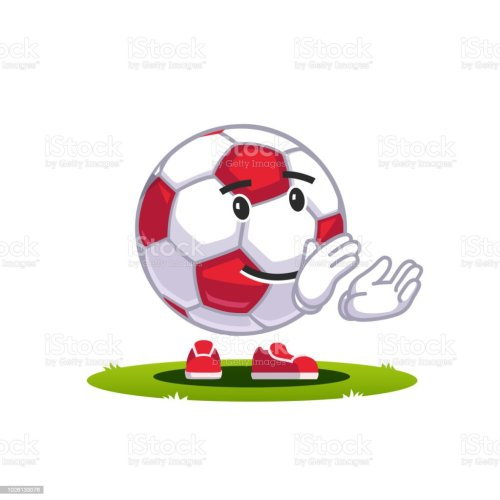 small resolution of animated cartoon soccer ball emoticon supporter fan character smiling football clapping hands applauding smiley face flat style vector clipart