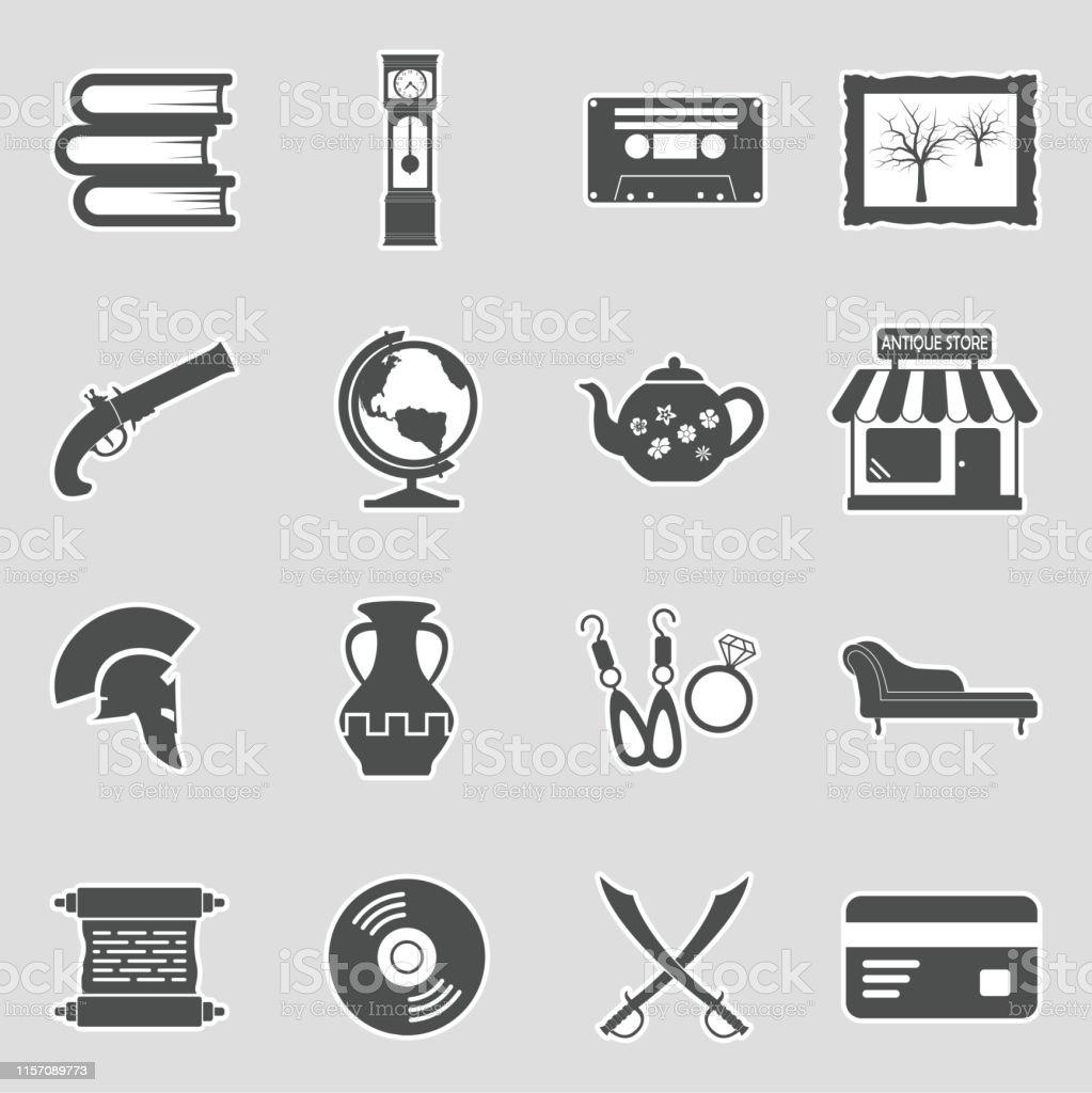 antique store icons sticker