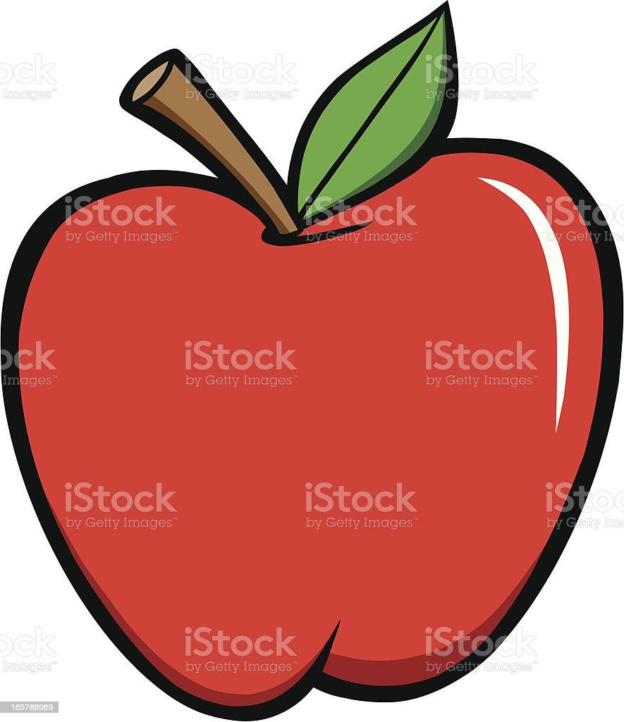 red apple cartoon illustrations