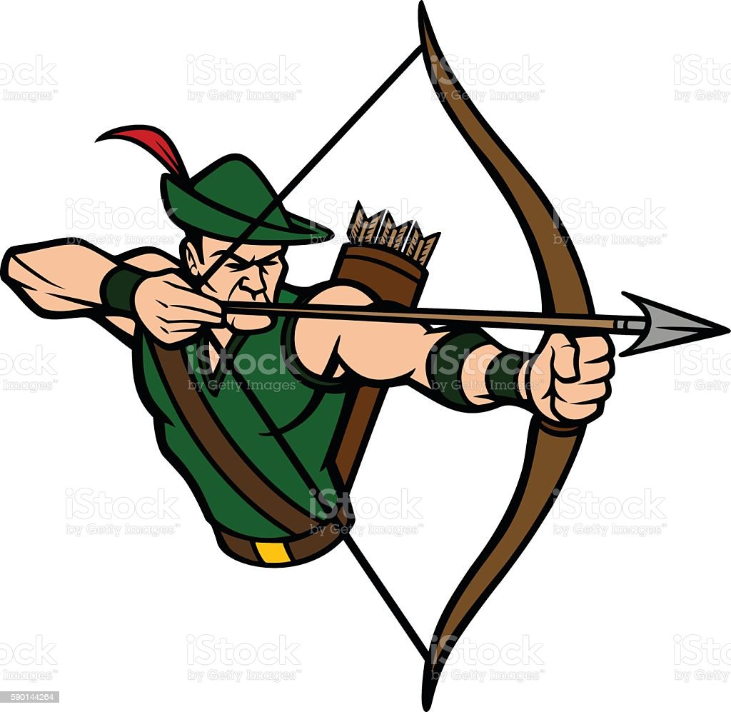 Royalty Free Green Archer Clip Art Vector Images