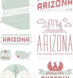 arizona typography vector art illustration [ 838 x 1024 Pixel ]