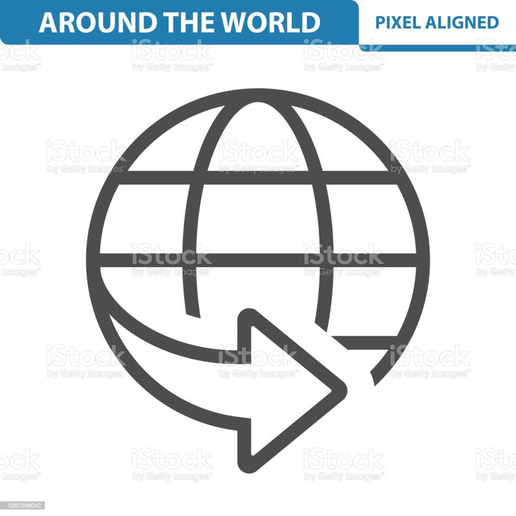 hight resolution of around the world icon illustration