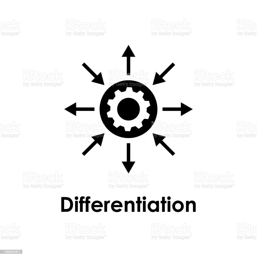 Arrow Gear Settings Differentiation Icon One Of Business