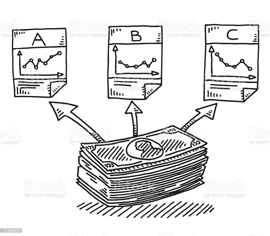 Allocazione Delle Risorse Finanziarie Investimenti Disegno