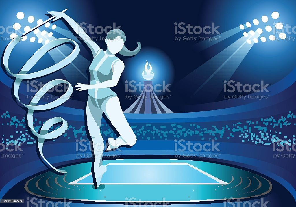 athletics gymnastics background summer