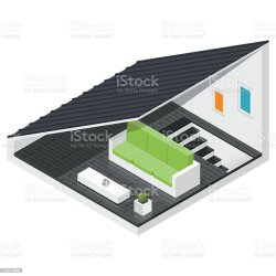 attic vector icon isometric private clip clipart illustration illustrations bedroom graphic create