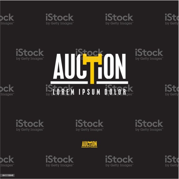 Auction Logo Stock Vector Art & Of