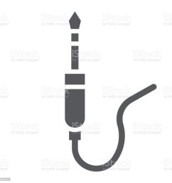 audio jack glyph icon wire and equipment jack cable sign vector graphics  [ 1024 x 1024 Pixel ]