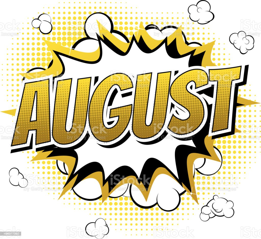 august clip art vector