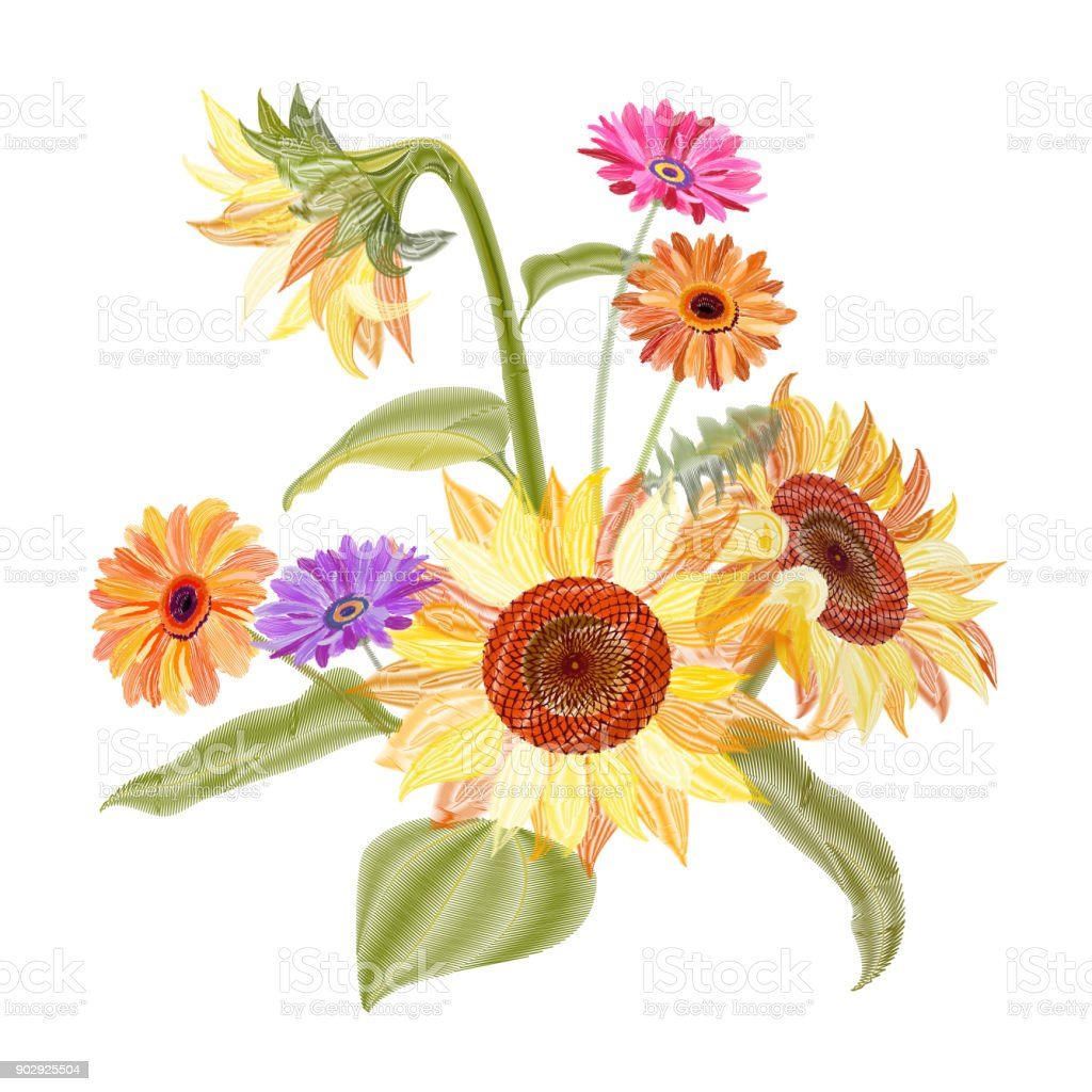 royalty free helianthus clip art