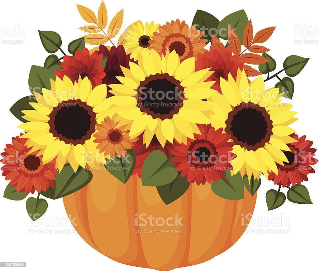 sunflower bouquet illustrations