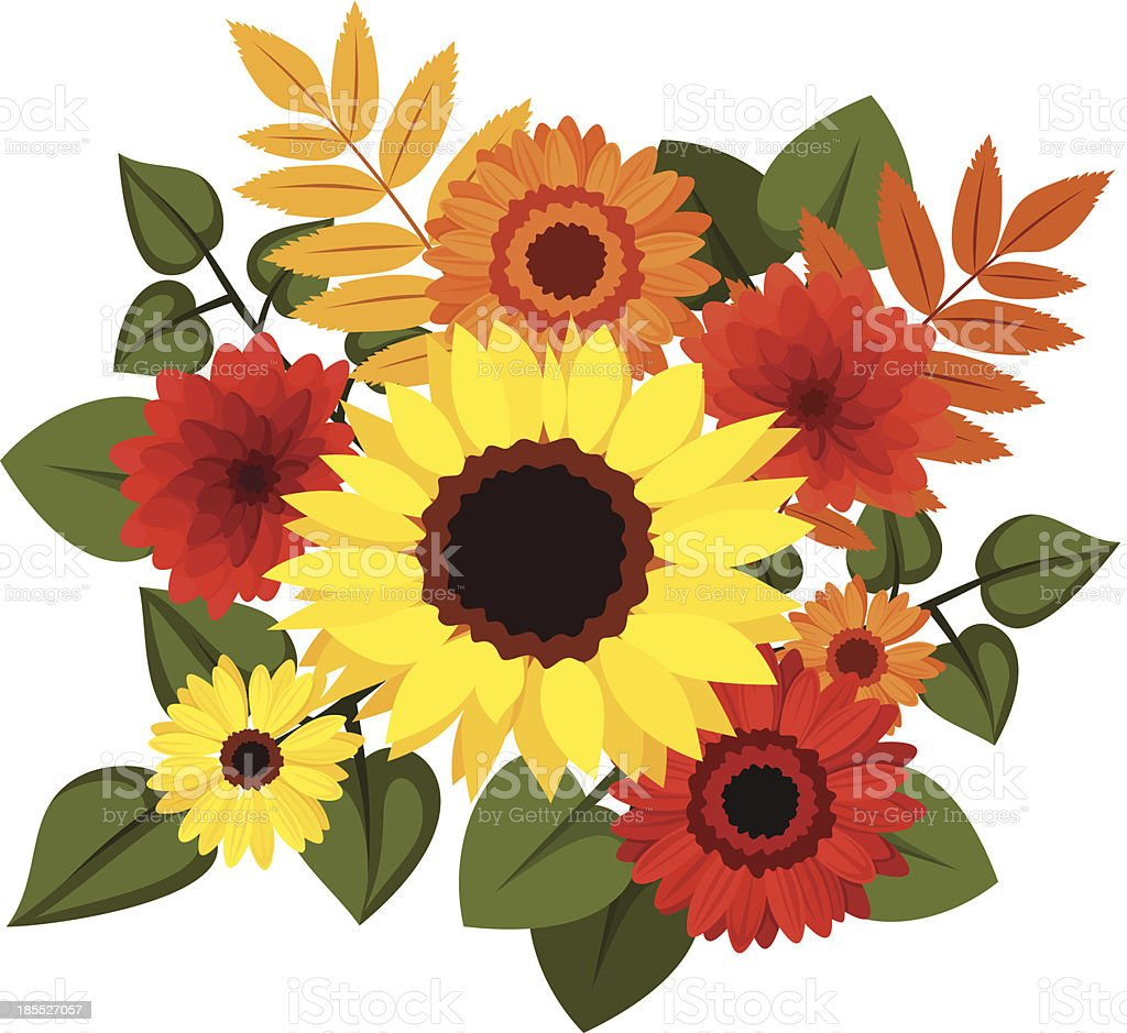 sunflower bouquet silhouettes