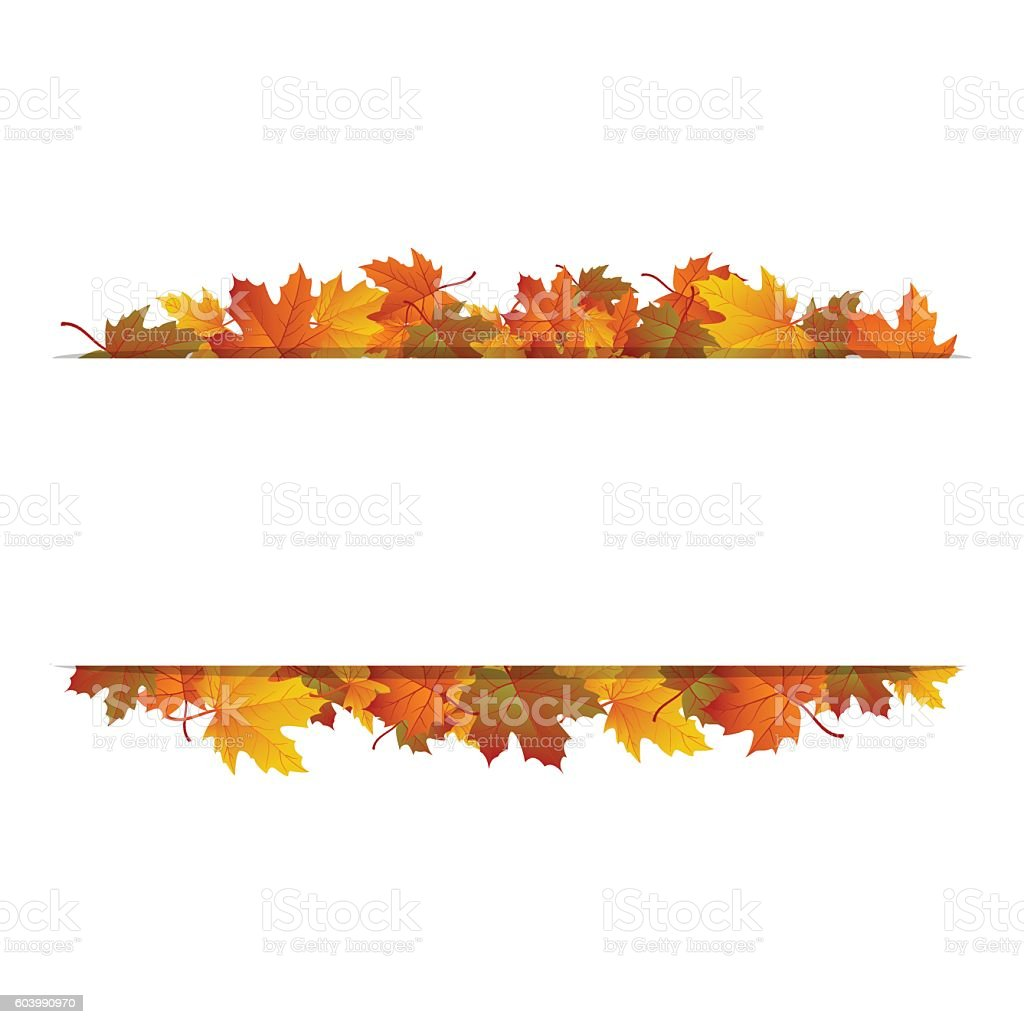 autumn leaves blank rectangle