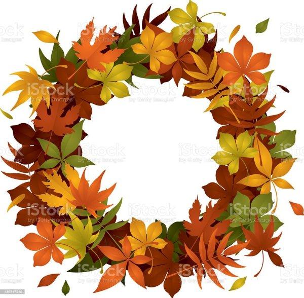 Autumn Wreath Stock Vector Art 486717246 Istock