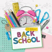 Back To School Banner Design With Lettering And School ...