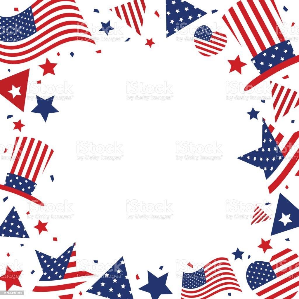 美國背景設計的美國國旗與副本空間為 7 月 4 日獨立日或其他慶祝活動 向量插圖及更多 Christopher Columbus ...