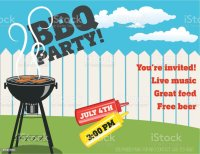 Backyard Bbq Background Invitation Template Stock Vector ...
