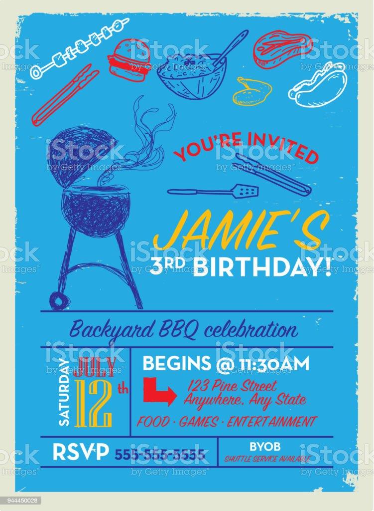 https www istockphoto com vector backyard bbq birthday party invitation design template gm944450028 257988648