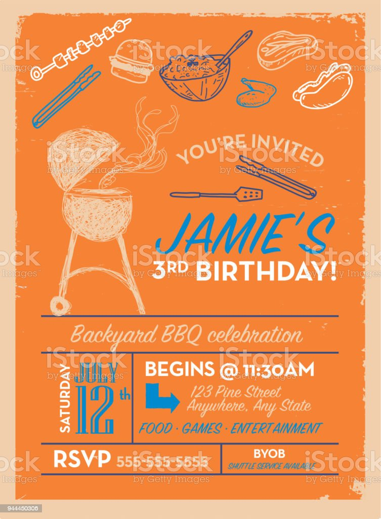 https www istockphoto com vector backyard bbq birthday party invitation design template gm944450306 257988652