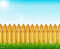Royalty Free Backyard Fence Clip Art, Vector Images ...