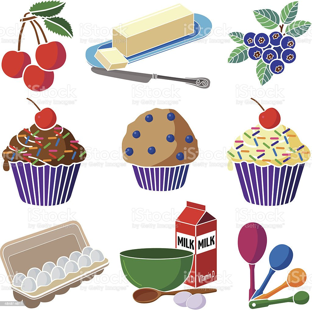 Royalty Free Blueberry Muffin Clip Art Vector Images