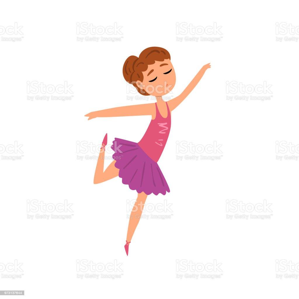 ballerina character in purple