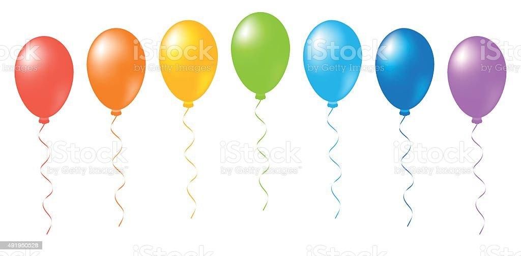 retirement balloons illustrations