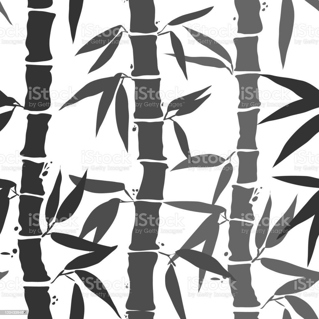 https www istockphoto com fr vectoriel motif sans couture de feuille de bambou en noir et blanc id c3 a9al pour la gm1204339460 346488879