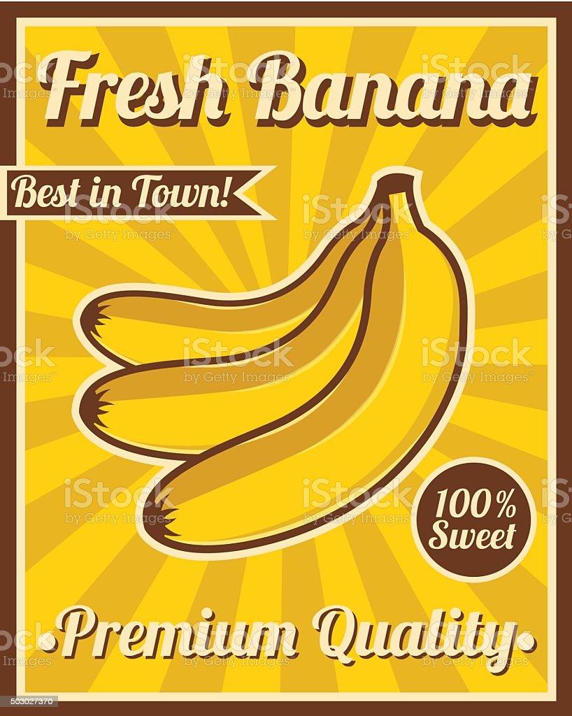 banana poster stock illustration