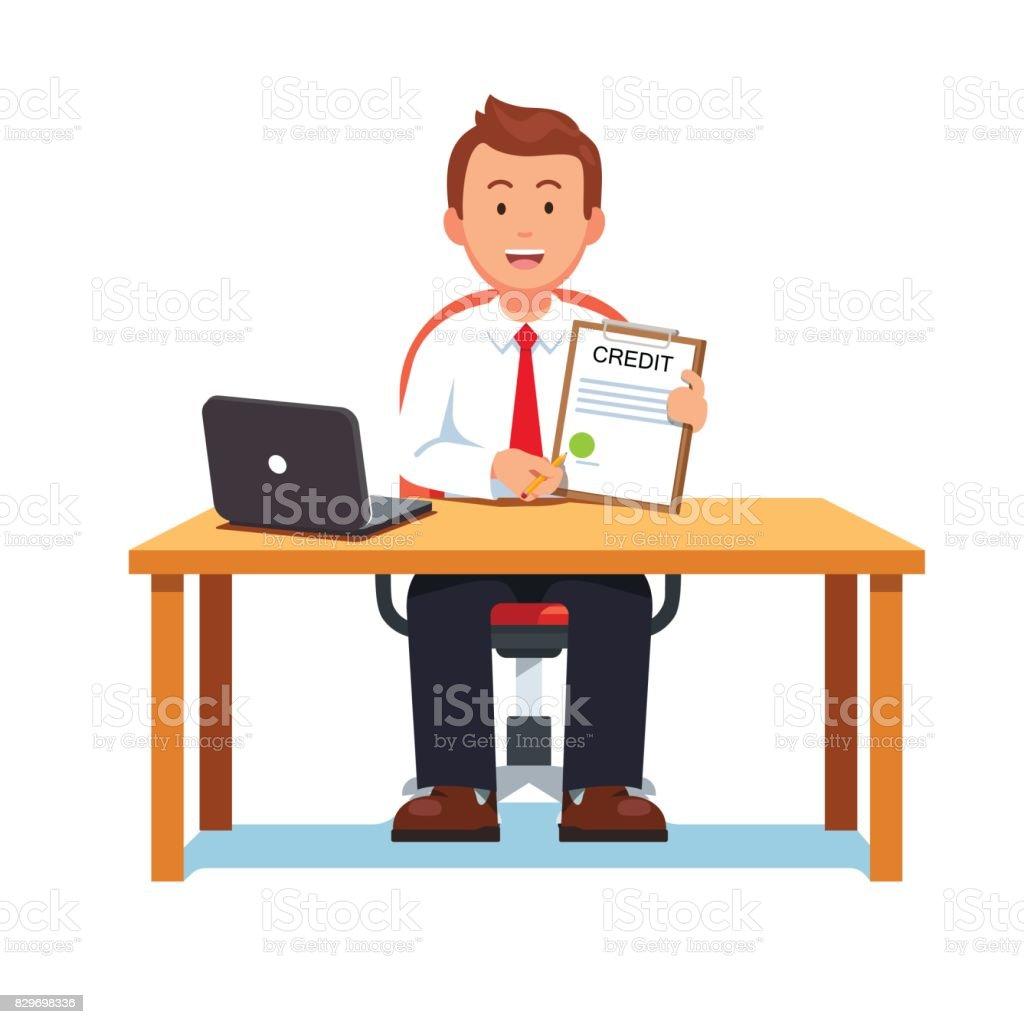 bank manager illustrations