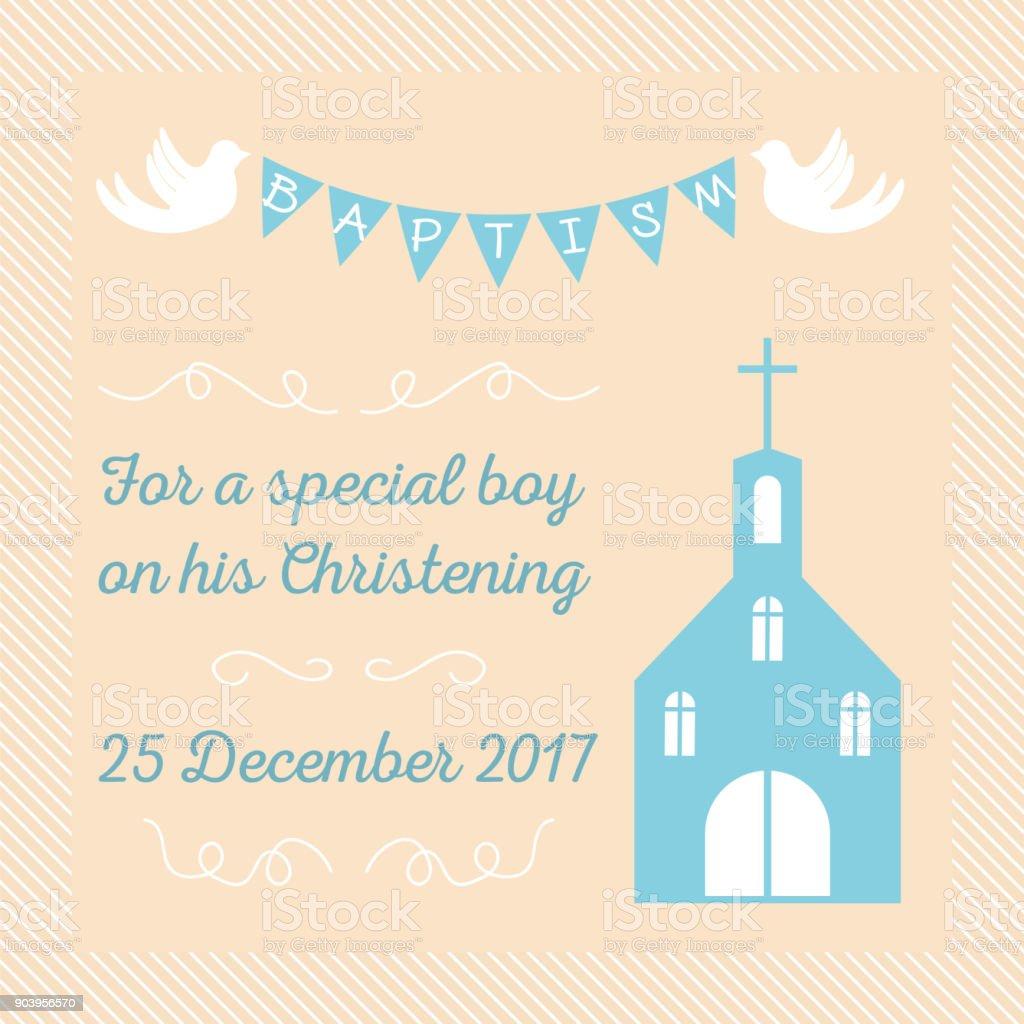 baptism invitation template stock illustration download image now istock