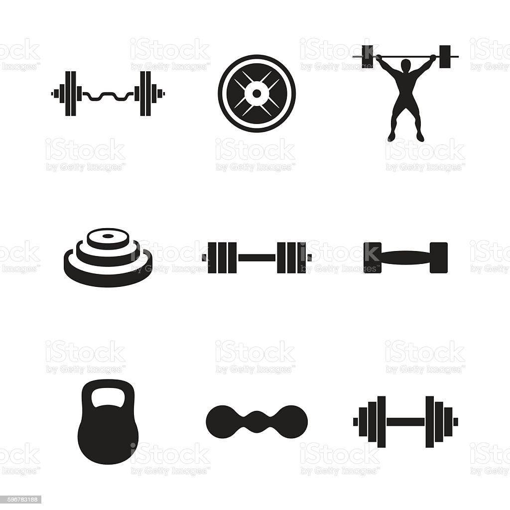 free barbell clipart and