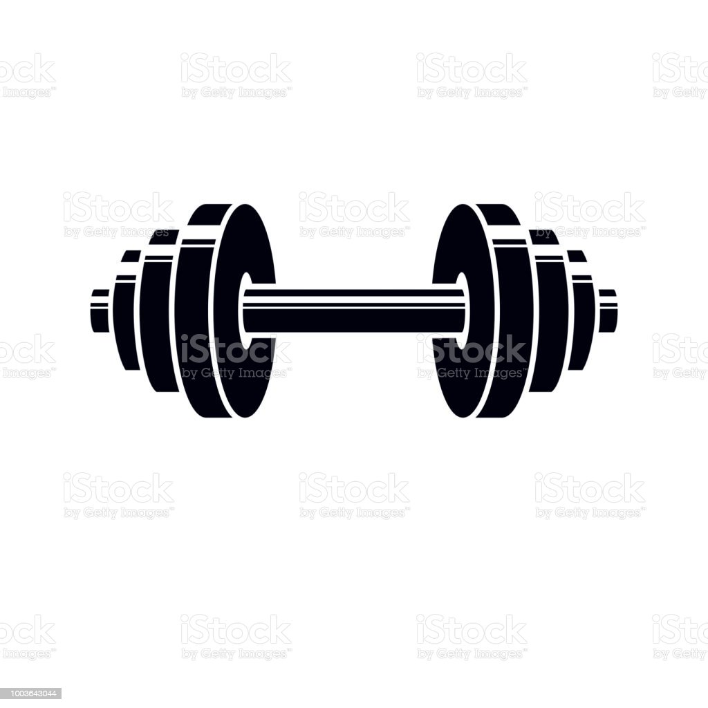 barbell vector sign stylized