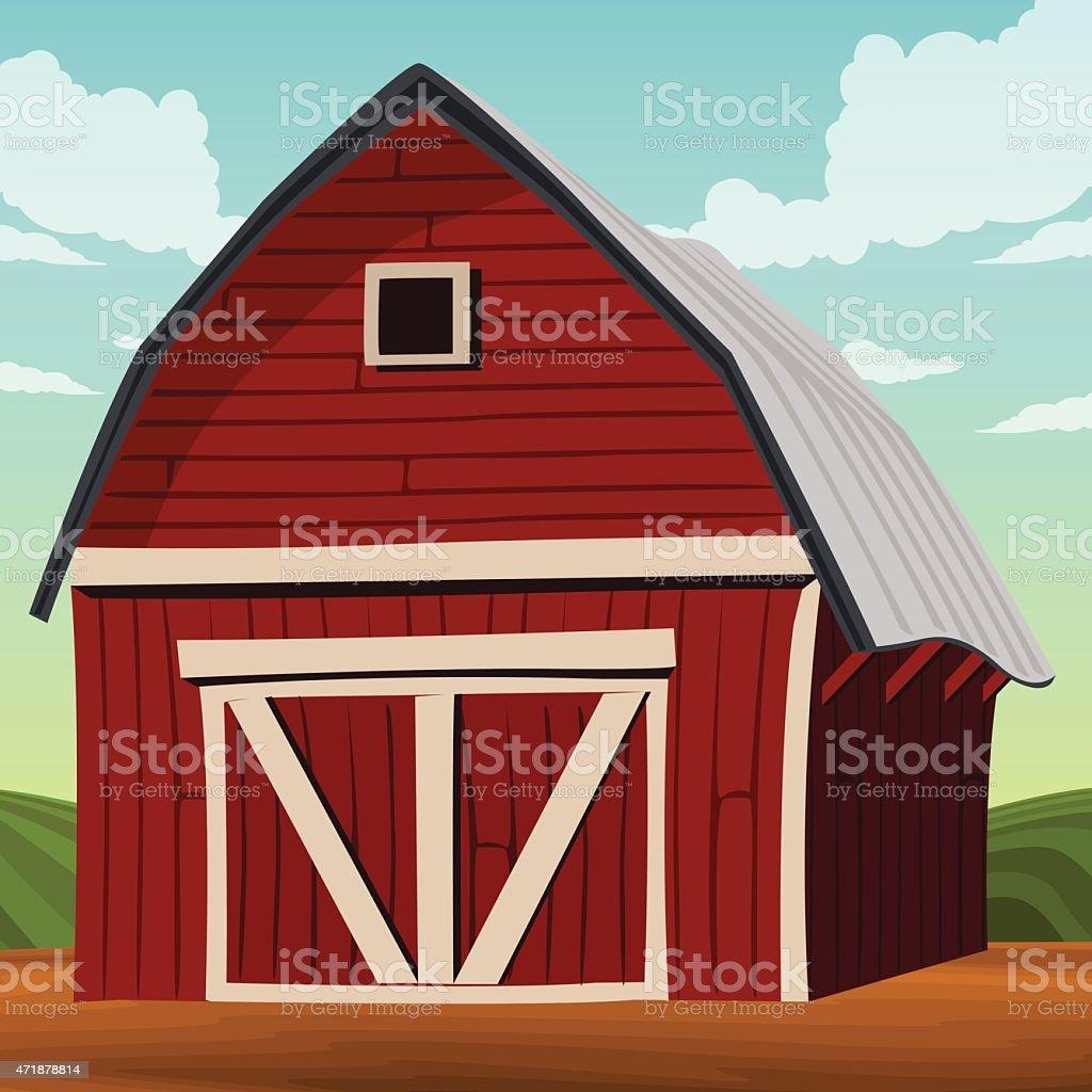 royalty free red barn clip art