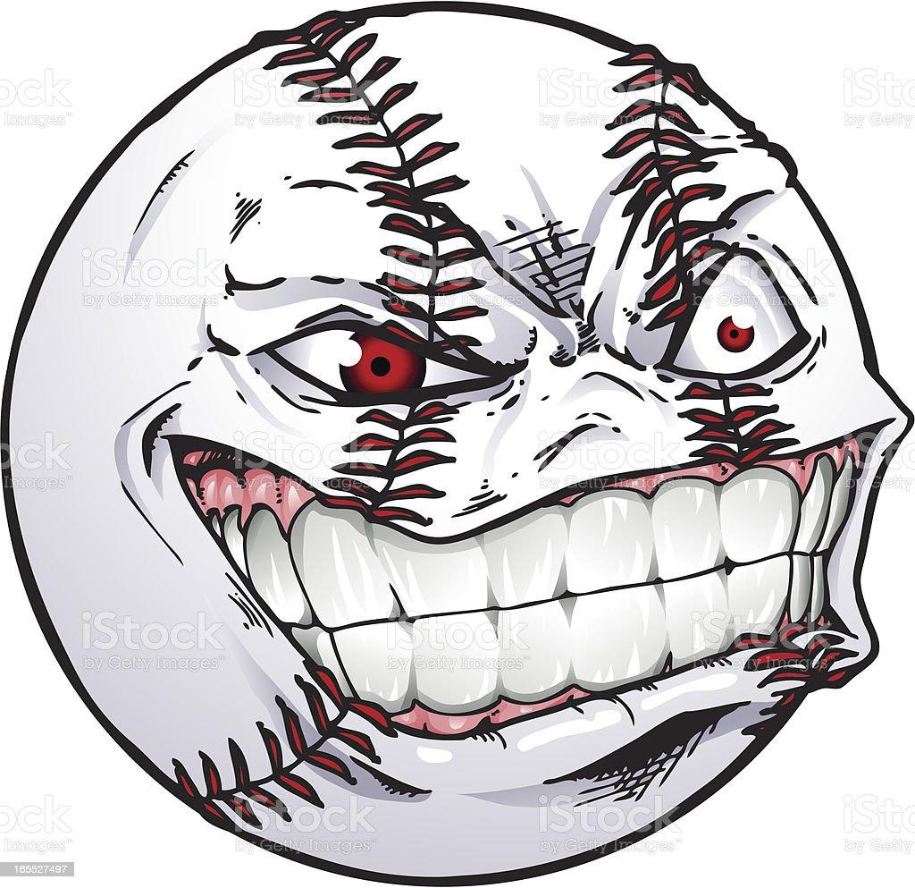baseball face stock illustration