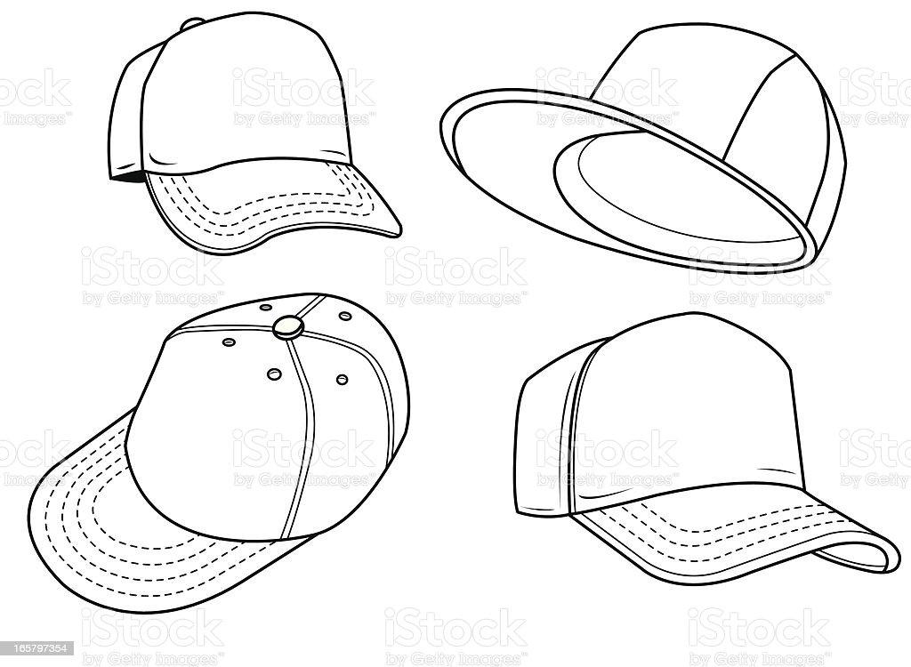 Baseball Hat Sports Equipment Stock Vector Art & More
