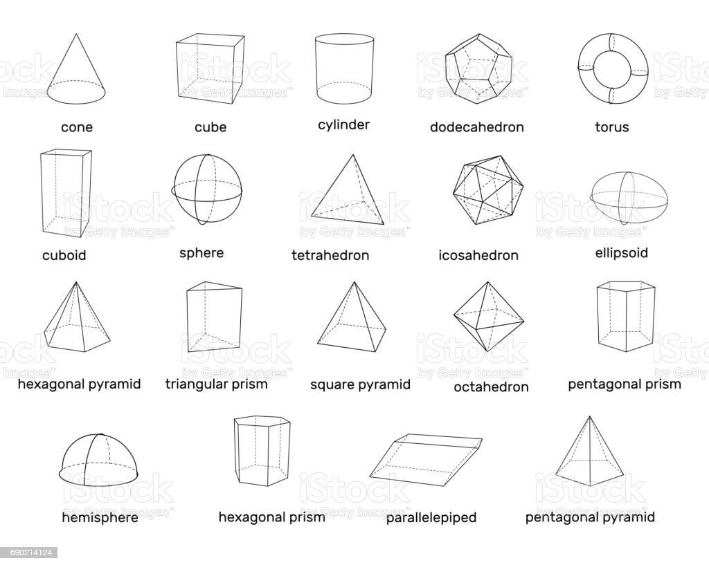 Basic 3d Geometric Shapes Isolated On White Background