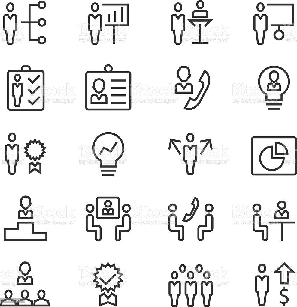 Basic Rgbhuman Resources And Management Icons Set Stock