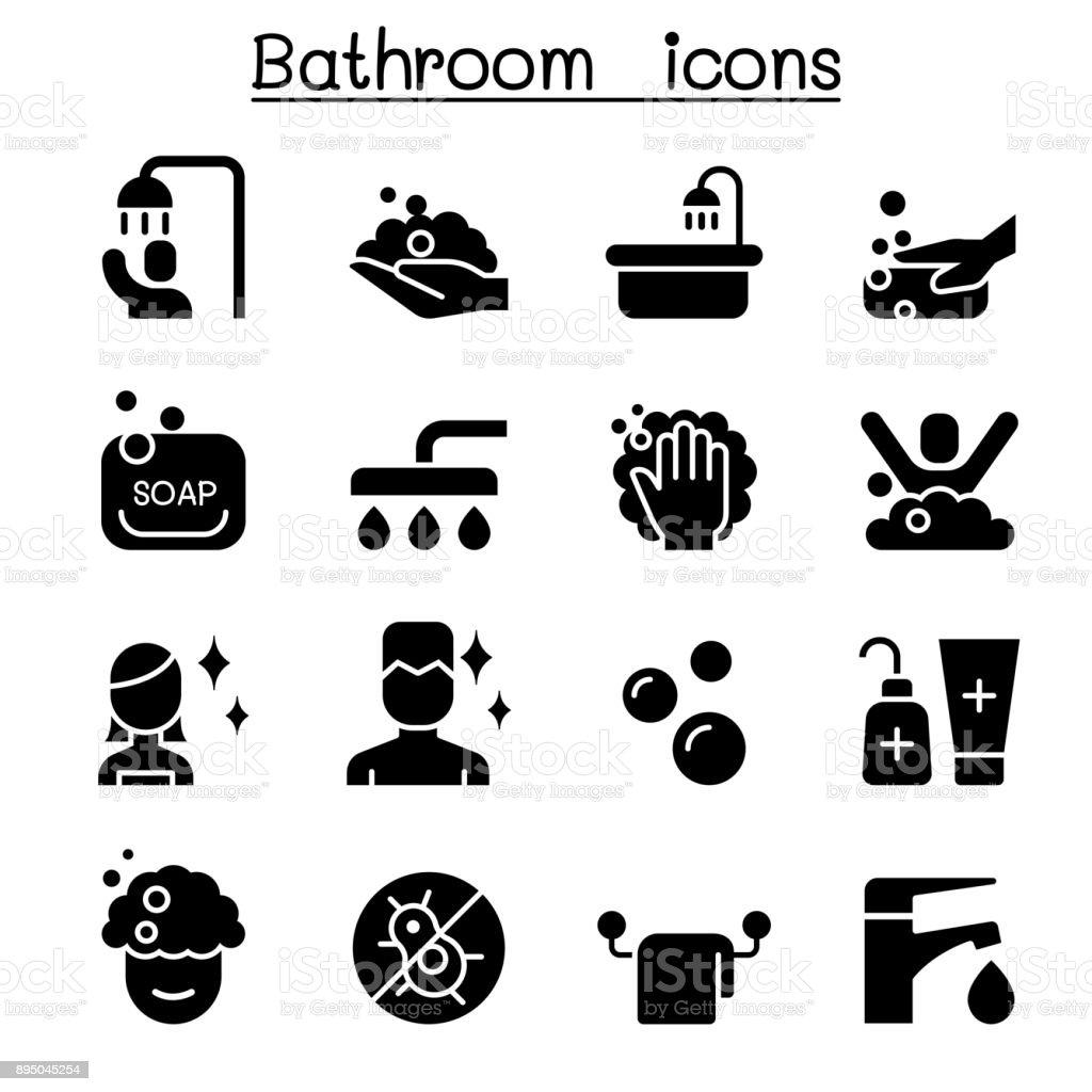 Bathroom Icon Set Vector Illustration Graphic Design Stock Illustration Download Image Now Istock