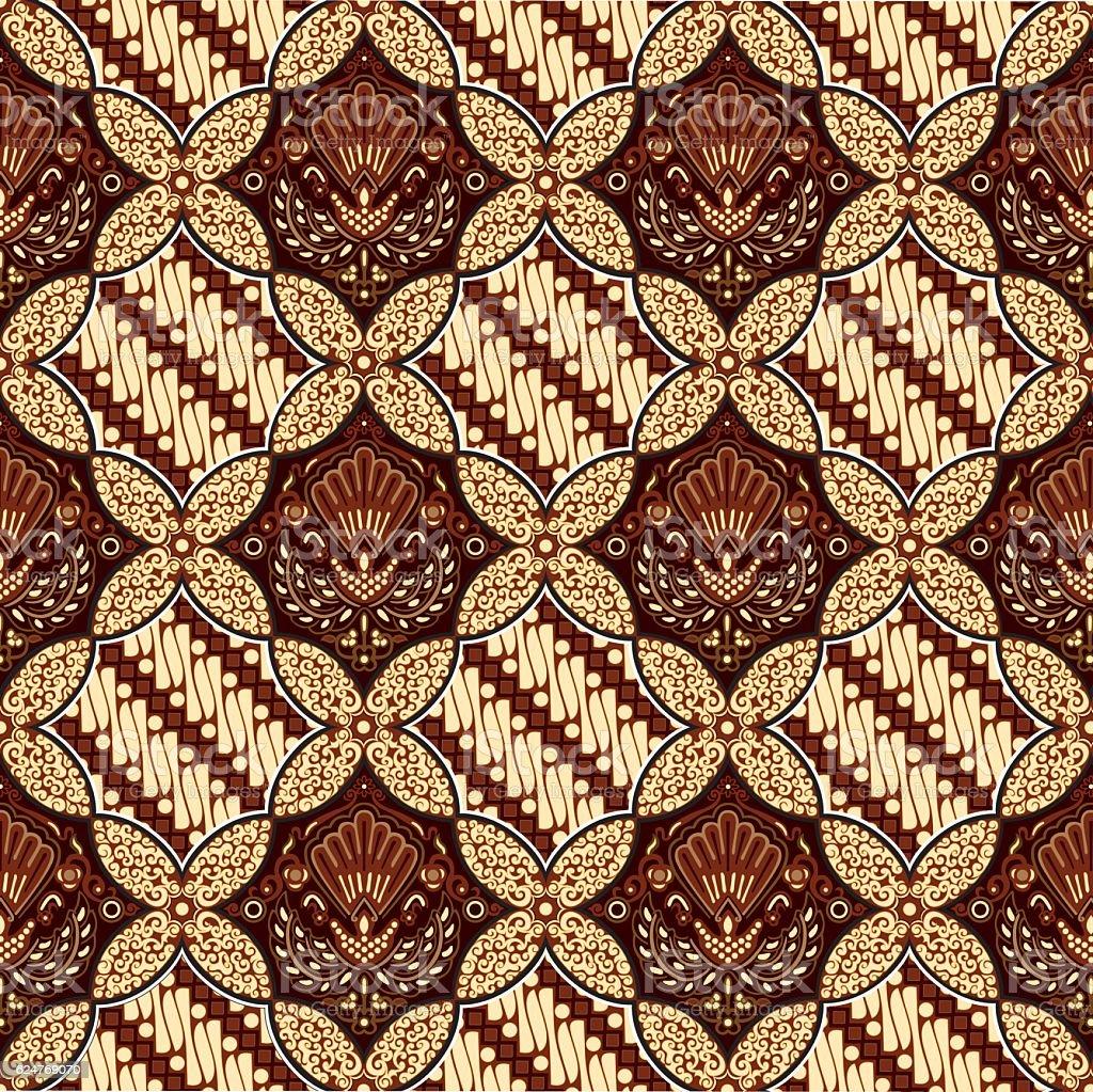 Batik Ceplok Parang Stock Vector Art  More Images of Art