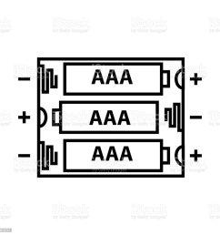 aaa battery icon vector illustration royalty free aaa battery icon vector illustration stock illustration [ 1024 x 1024 Pixel ]