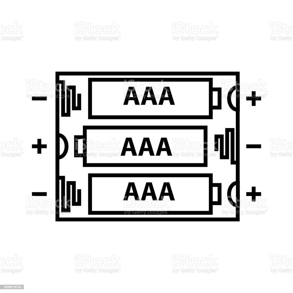 hight resolution of aaa battery icon vector illustration royalty free aaa battery icon vector illustration stock illustration