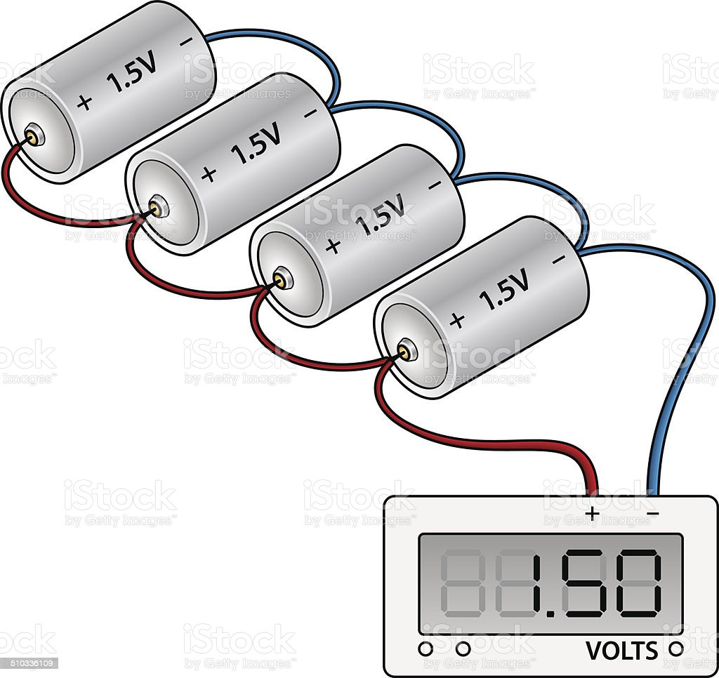 hight resolution of battery wiring diagram royalty free stock vector art
