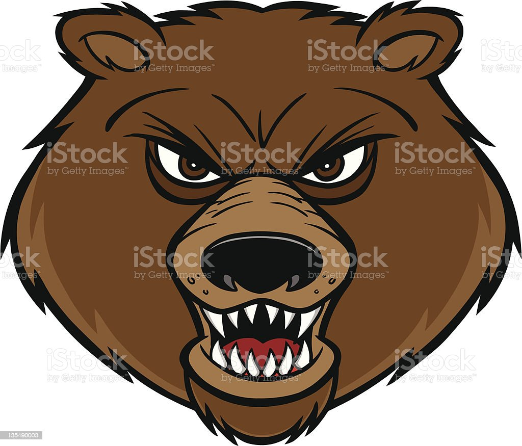 hight resolution of bear mascot royalty free stock vector art