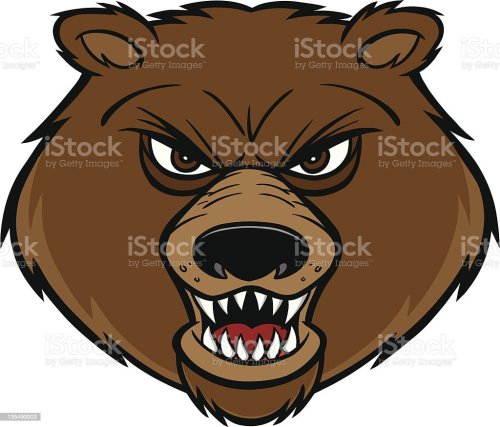 small resolution of bear mascot royalty free stock vector art
