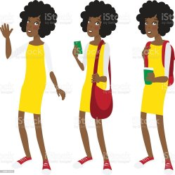 student female clip vector illustrations american dress cartoons