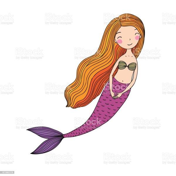 Beautiful Little Mermaid Siren Sea Theme Stock