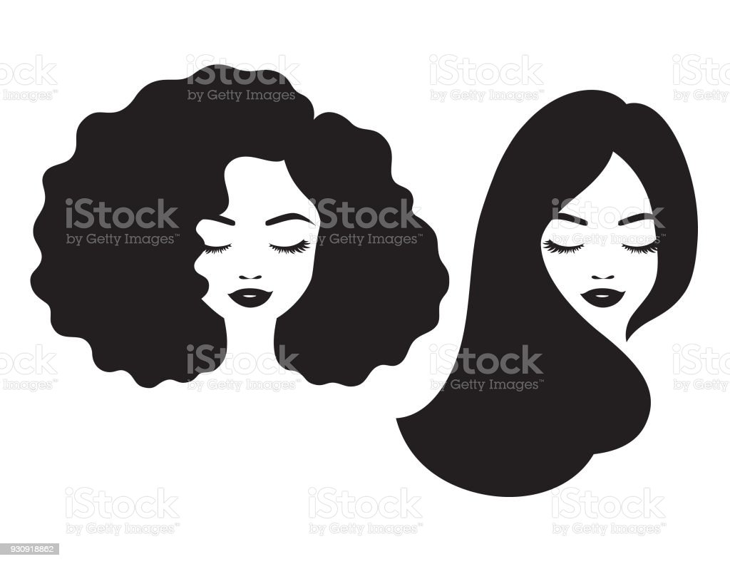 royalty free big hair clip art