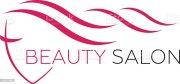 beautiful woman face vector logo